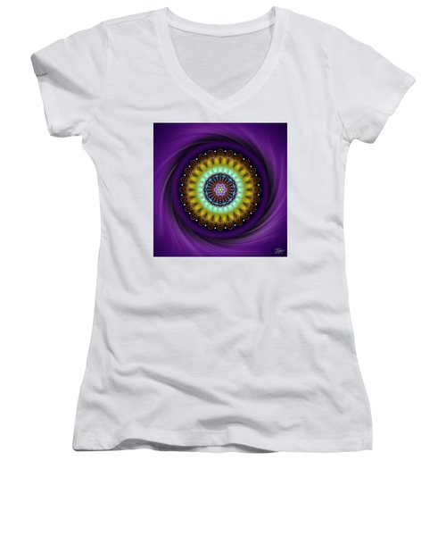 Sacred Geometry 710 Women's V-Neck