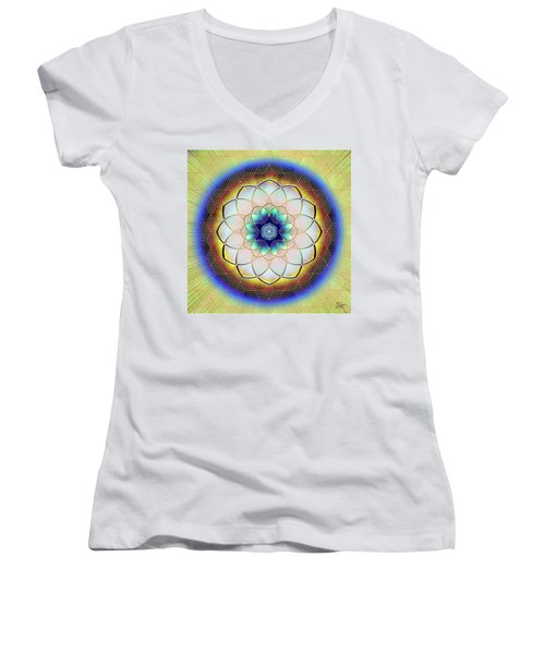 Sacred Geometry 723 Women's V-Neck