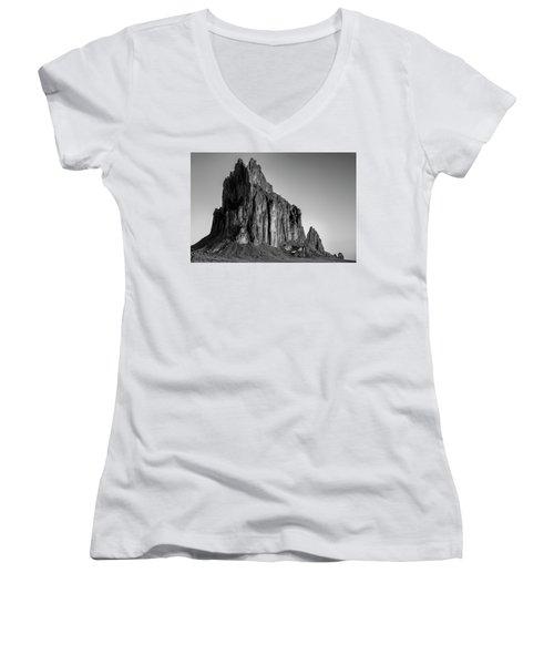 Sacred Glow II Women's V-Neck T-Shirt (Junior Cut) by Jon Glaser