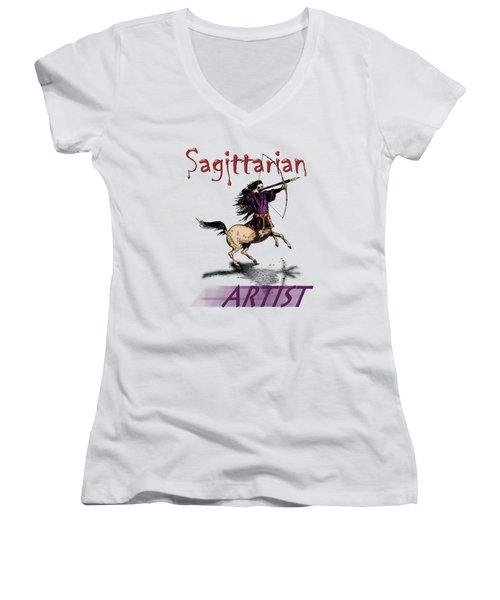 Sagittarian Artist Women's V-Neck T-Shirt