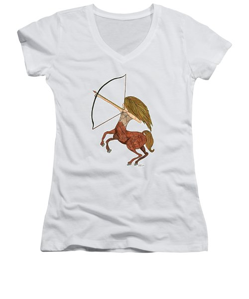 Sagittarius Women's V-Neck (Athletic Fit)
