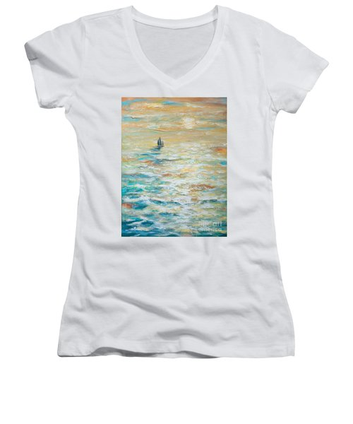 Sailing Into The Sunset Women's V-Neck