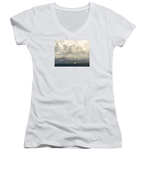 Sailing Scottish Seas Women's V-Neck T-Shirt