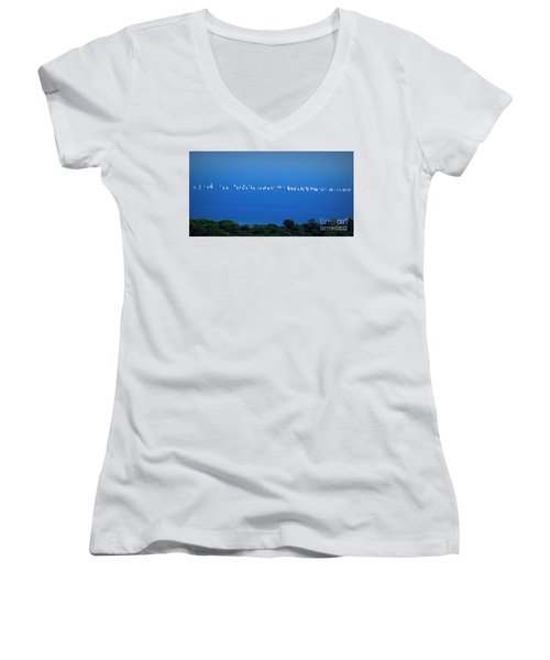 Sailing The Sea And Sky Women's V-Neck (Athletic Fit)