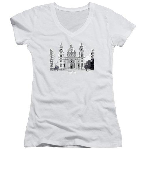 Saint Stephens Basilica Women's V-Neck T-Shirt