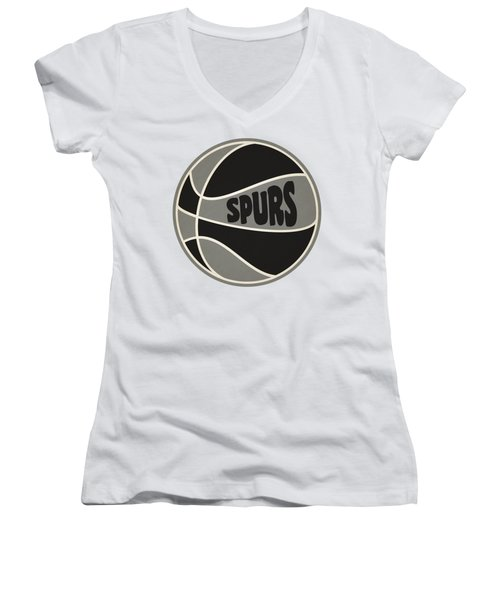 San Antonio Spurs Retro Shirt Women's V-Neck T-Shirt