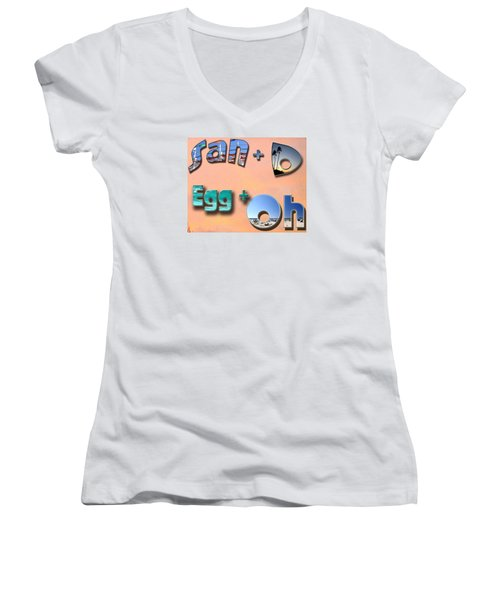 San D Egg Oh Women's V-Neck (Athletic Fit)