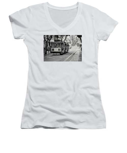 San Francisco Cable Cars Women's V-Neck