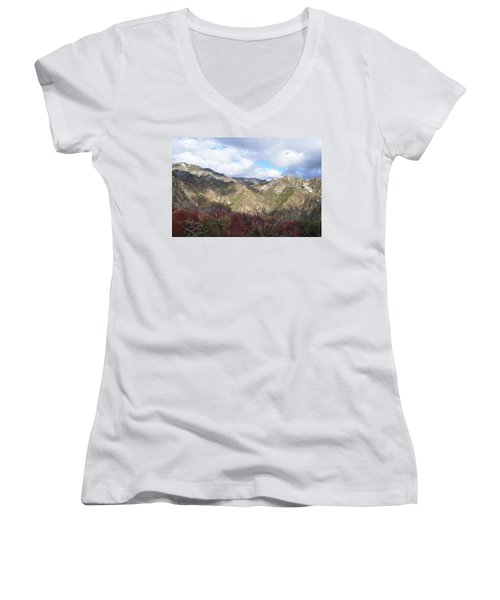 San Gabriel Mountains National Monument Women's V-Neck