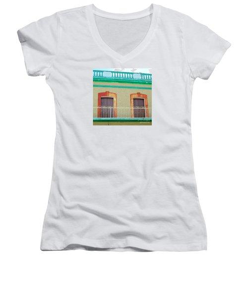 San Jose Del Cabo Doors 11 Women's V-Neck T-Shirt (Junior Cut) by Randall Weidner