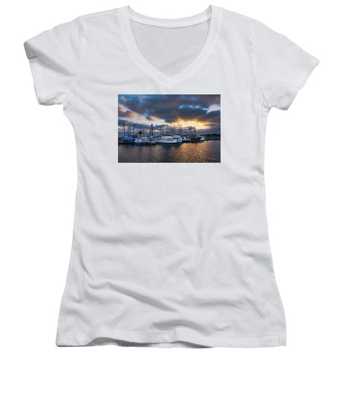 Women's V-Neck (Athletic Fit) featuring the photograph Sand Dollar by Dan McGeorge