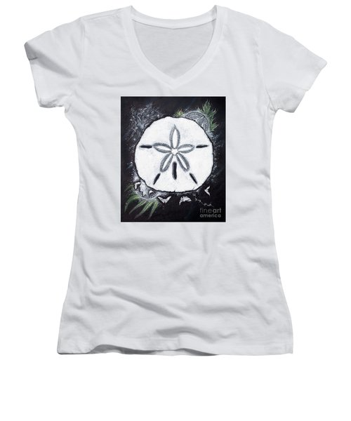 Sand Dollars Women's V-Neck T-Shirt