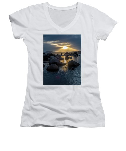 Sand Harbor Light Women's V-Neck