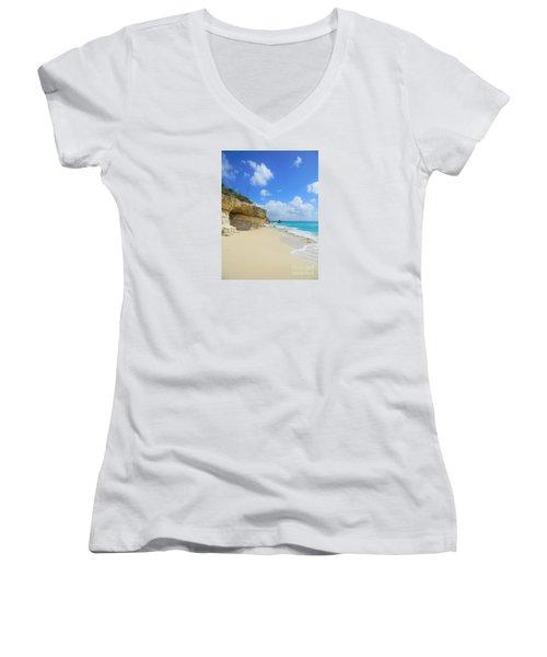 Sand Sea And Sky Women's V-Neck T-Shirt