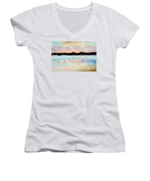 Sandpipers Women's V-Neck T-Shirt