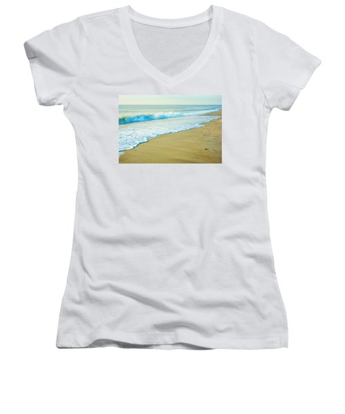 Sandy Hook Beach, New Jersey, Usa Women's V-Neck (Athletic Fit)