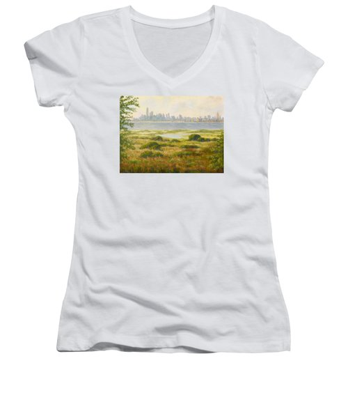 Sandy Hook View Women's V-Neck (Athletic Fit)