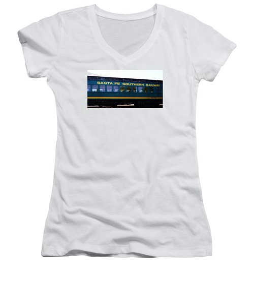Santa Fe Train Women's V-Neck (Athletic Fit)