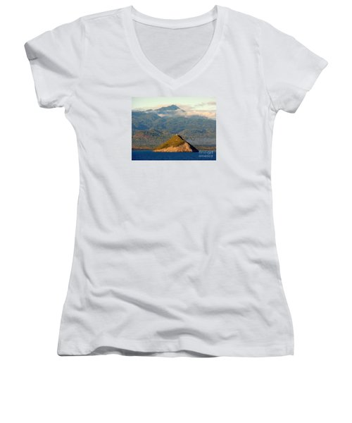 Sao Tome Africa Harbor Women's V-Neck T-Shirt