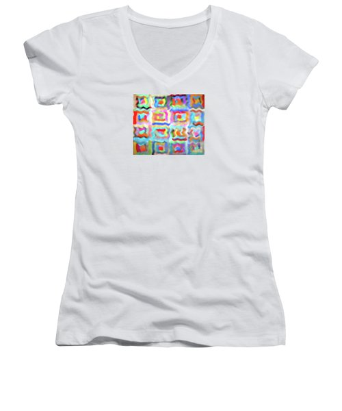 Saturday Quilting Muse Women's V-Neck T-Shirt