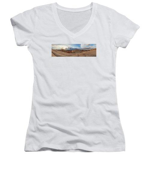 Women's V-Neck T-Shirt (Junior Cut) featuring the photograph Savor The Solitude by Dustin LeFevre