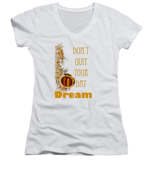 Saxophone Fine Art Photographs Art Prints 5019.02 Women's V-Neck T-Shirt