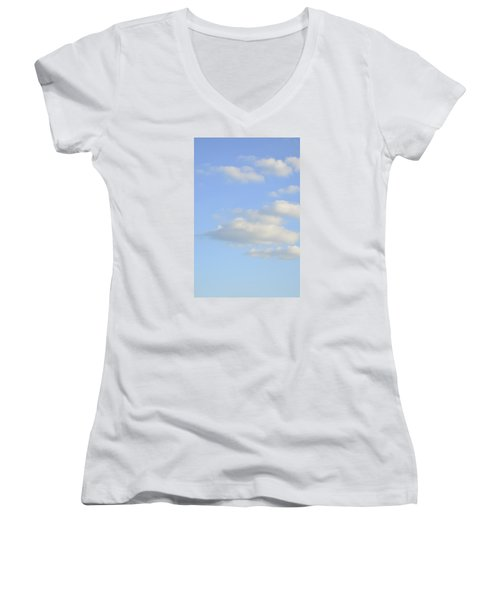 Say Vertical Women's V-Neck T-Shirt (Junior Cut) by Wanda Krack