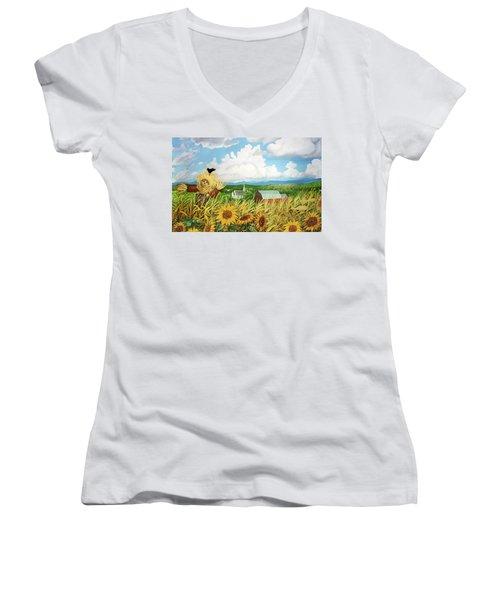 Scarecrow Farm Women's V-Neck T-Shirt