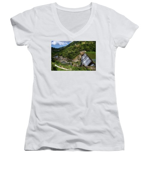 Scenic Puerto Rico  Women's V-Neck (Athletic Fit)