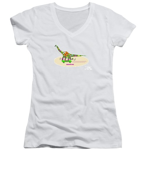 Schools Out For Dinosaurs Women's V-Neck (Athletic Fit)