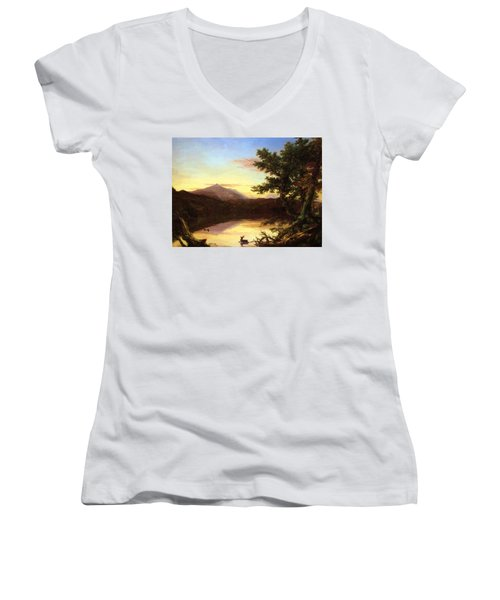 Schroon Lake 1840 Women's V-Neck (Athletic Fit)