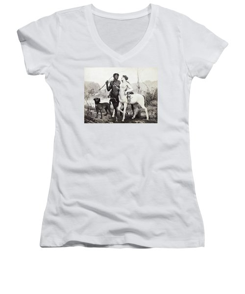 Schutzenberger: Centaurs Women's V-Neck T-Shirt (Junior Cut) by Granger