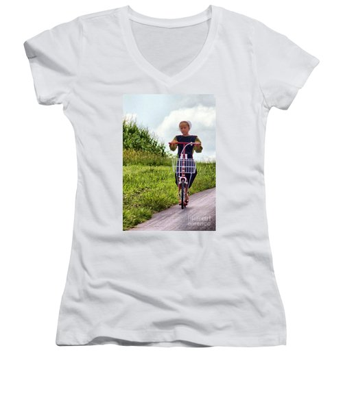 Scootin' Women's V-Neck (Athletic Fit)
