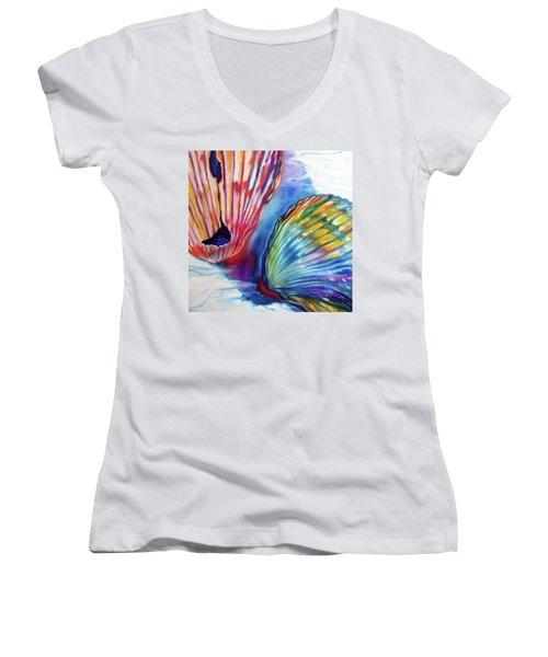 Sea Shell Abstract II Women's V-Neck T-Shirt
