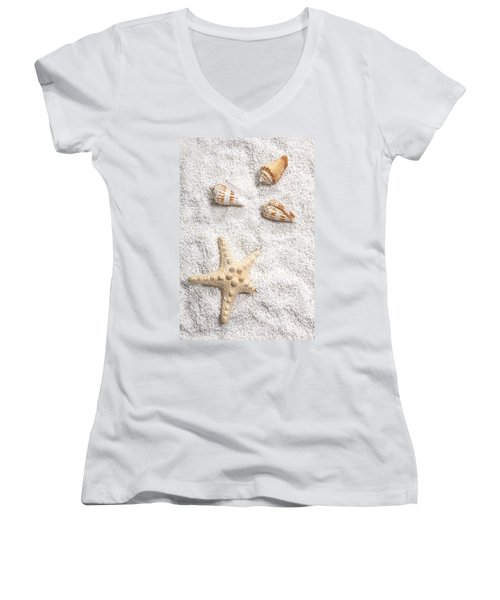 Sea Shells Women's V-Neck (Athletic Fit)