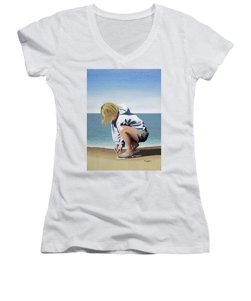 Sea Shells On The Beach Women's V-Neck