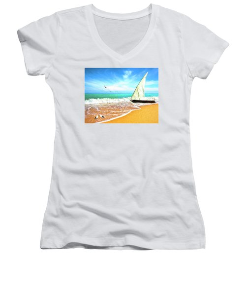 Sea Shore Women's V-Neck