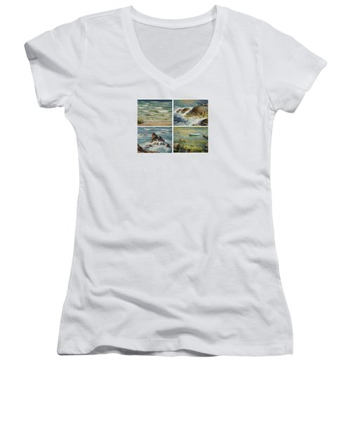 Sea Symphony. Part 1,2,3,4. Women's V-Neck T-Shirt