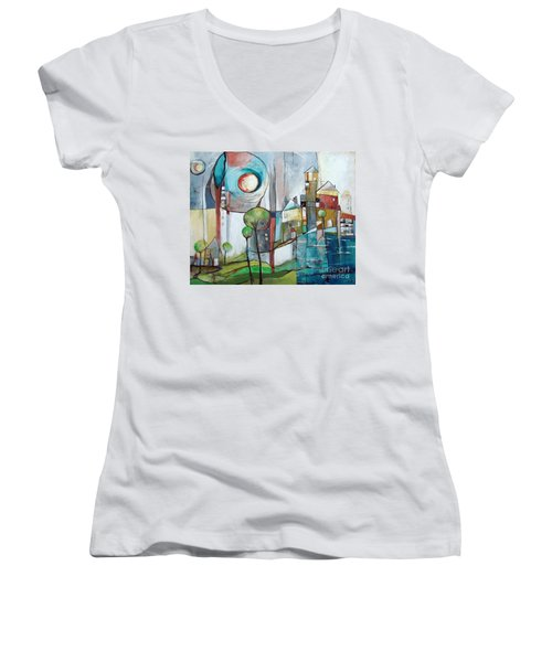 Sea Town Women's V-Neck (Athletic Fit)