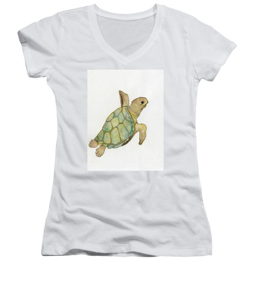Sea Turtle Women's V-Neck T-Shirt