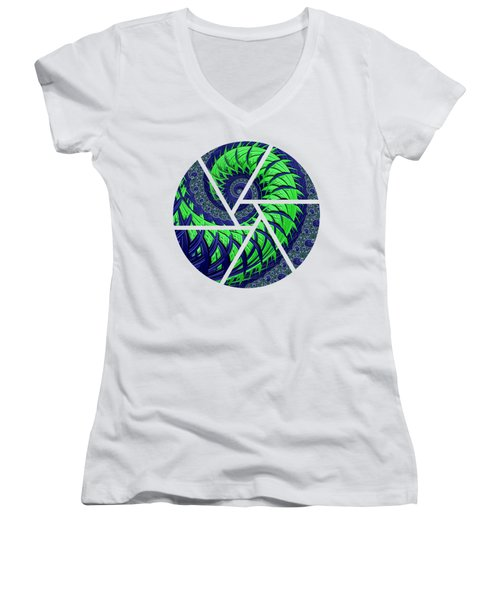 Seahawks Spiral Women's V-Neck