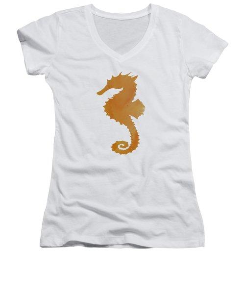 Seahorse Women's V-Neck T-Shirt (Junior Cut) by Mordax Furittus