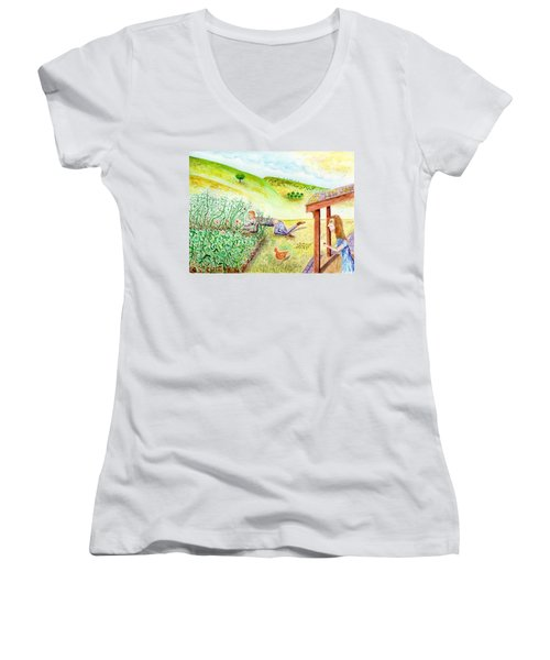 Seasons First Tomatoes Women's V-Neck T-Shirt