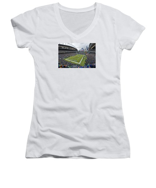 Seattle Seahawks Centurylink Field Women's V-Neck