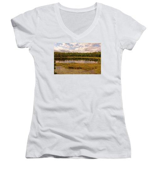 Secluded Lake Women's V-Neck