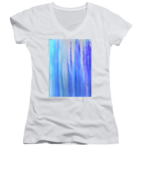 See Blue Sea Women's V-Neck T-Shirt (Junior Cut) by Cyrionna The Cyerial Artist