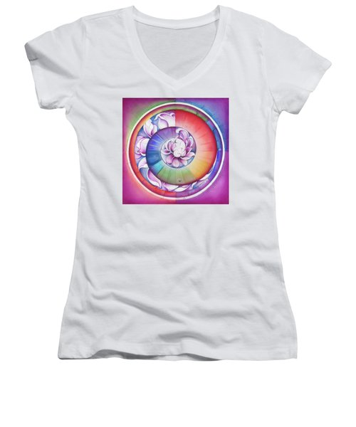 Seed Of Life - Mandala Of Divine Creation Women's V-Neck T-Shirt