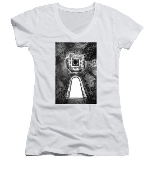 Women's V-Neck T-Shirt (Junior Cut) featuring the photograph Seeing From With In by Terry Cosgrave