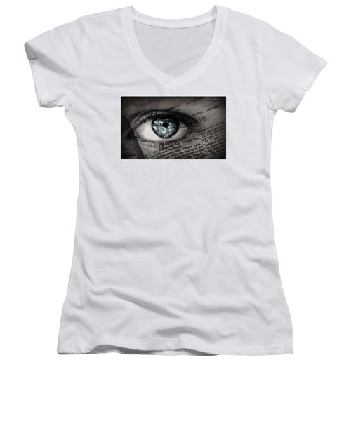 Seek The Truth Women's V-Neck (Athletic Fit)