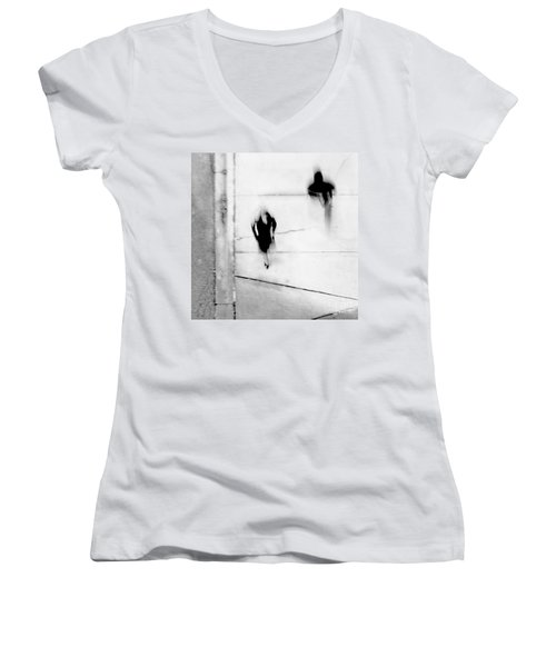 Self-protection - If You Look Me In The Eye Will You See Me Women's V-Neck (Athletic Fit)